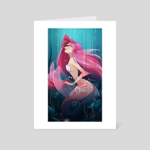 Mermaid - Art Card by Lissy Marlin
