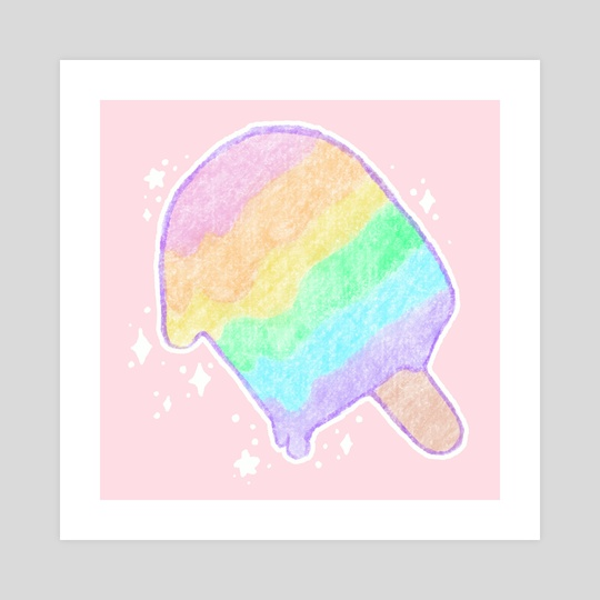 Pastel Rainbow Melty Popsicle by Bridget Garofalo