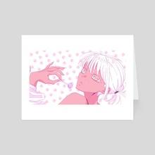 Strawberry Lollipop - Art Card by Holly Elyse