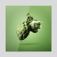 Artichchhhh... -sigstop - Acrylic by Travis Commeau