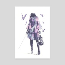 Violin and Butterflies - Canvas by Galen Valle
