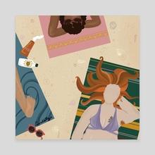 Hairy Beach Day - Canvas by Emerald Skye