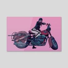 Café Racer - Acrylic by Robert Sammelin
