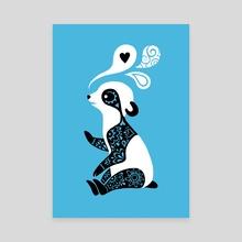 Panda 3 - Canvas by Indré Bankauskaité