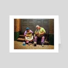 Street Musicians - Art Card by Manuel Adrianzen