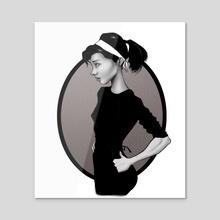 Audrey - Acrylic by Jose Enrique Carrasco