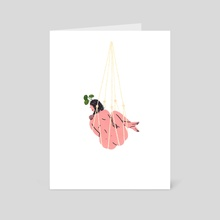 Macrame Babe - Introvert - Art Card by Rachel Jo