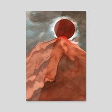 red mountain - Acrylic by Rowan Fridley