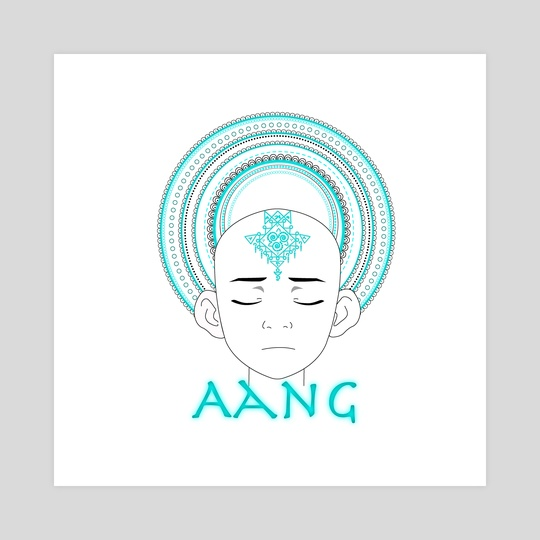 Aang mandala by Genevieve Blais