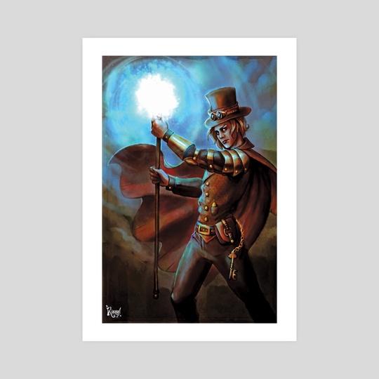 Steampunk wizard by Kissa Maraña
