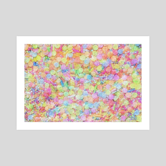 Candy Sprinkles All Over Impressionist Painting by Bridget Garofalo