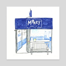 Mikey Likes It: storefront - Canvas by Joel Holland