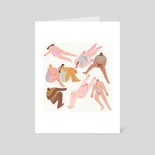 Girls - Art Card by Rosalyn Yoon