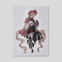 Suigintou and Shinku - Acrylic by Mina Laifey