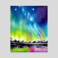Northern Lights - Canvas by Addison Kanoelani