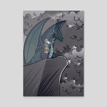 Dragon Warrior - Acrylic by Melissa Nettleship