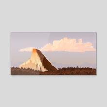 Lonely mountain - Acrylic by Francisco Villa
