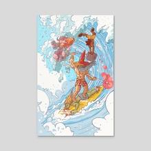 Surfs Up! - Acrylic by Skullboy