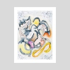 Dancing With Time's Tangles and Tangents - Art Print by Turner McElroy