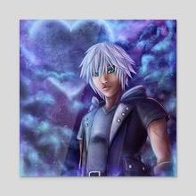 Master Riku Kingdom Hearts - Acrylic by Tyrelle Smith