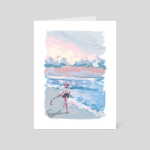 Kipo and the music of waves  - Art Card by katalean