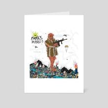FaMilY & DaMaGe 9 - Art Card by damage label