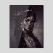 Nehemia  - Acrylic by Maria Dimova
