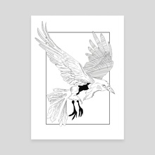 Fly Free (Bird) - Canvas by Scarlett Owen
