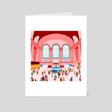 Daily commute in NYC - Art Card by Milly Que