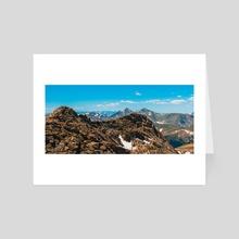 Colorado Peaks - Art Card by Megan Ross