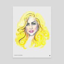 Swirly GaGa - Canvas by Carolina Matthes