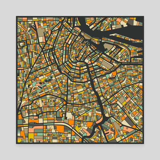 Amsterdam Map 2 by Jazzberry Blue