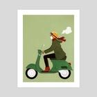 Scooter girl - Art Print by Sai Tamiya