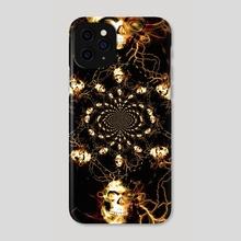 Skull fractal - Phone Case by Bruce Rolff
