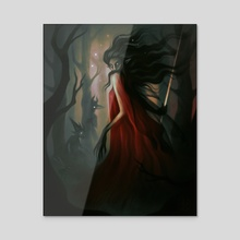 Lady in Red - Acrylic by Devin Forst