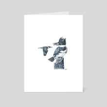 Belted Kingfisher - Art Card by Colin Hayes