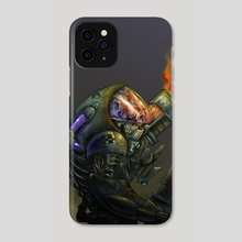 Robot Skull - Phone Case by Rafael Rivera