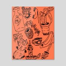 tattoo flash 1 - Acrylic by Orin Dee