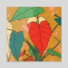 Plant 3 - Acrylic by Melinda Magyar