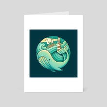 Into the Sea - Art Card by Enkel Dika