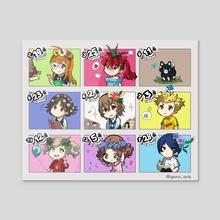 Persona 5 Birthday chart - Acrylic by goro_orb