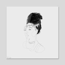 Jaiye (Single Line Drawing) - Acrylic by Trae Tay