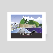 Cardigan, Ceredigion. Wales - Art Card by MIKE TURTON