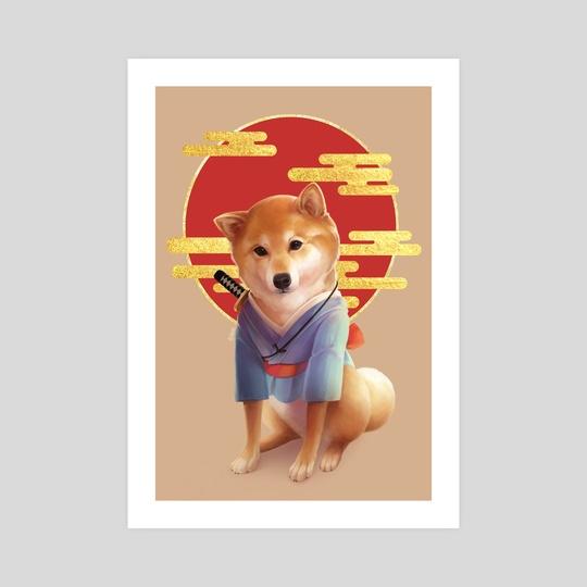 Samurai Shiba by Aly K. Sasagawa