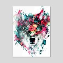 Wolf II - Acrylic by RIZA  PEKER