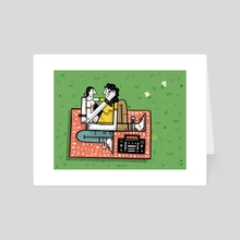 Spring Picnic - Art Card by Timothy  Rodgers