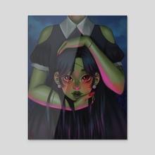 head - Acrylic by Lee Yan