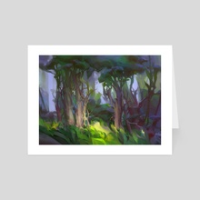 MTG Forest - Art Card by Min Yum