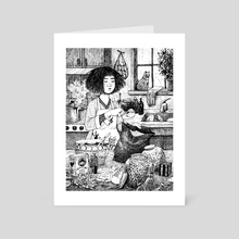 A Cooking Witch - Art Card by Julie Kwon