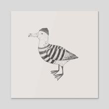 Albatross - Acrylic by Kseniia Ponomarenko